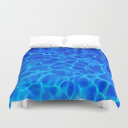 Blue Water Abstract Duvet Cover