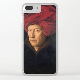 Jan van Eyck – A Portrait of a Man with a Turban Clear iPhone Case