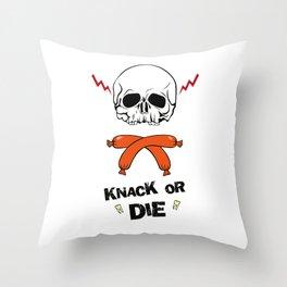 Knack Or Die Throw Pillow