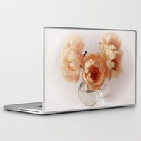 peonies Laptop & iPad Skins featuring Peonies by Ellen van Deelen