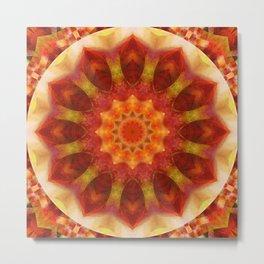 Mandala orangered Metal Print