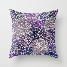 Floral Abstract 11 Throw Pillow
