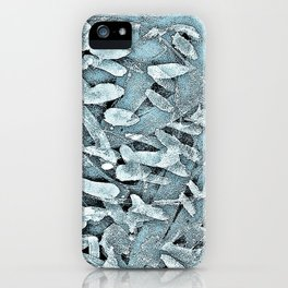 Ocean Tips Silver Blue Abstract iPhone Case