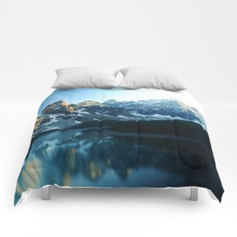 River in the Mountains Comforters