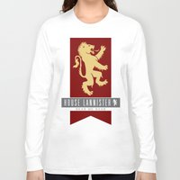 lannister Long Sleeve T-shirts featuring House Lannister Sigil by P3RF3KT