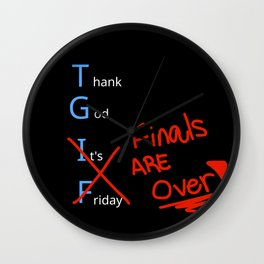 Thank God Finals are over Wall Clock