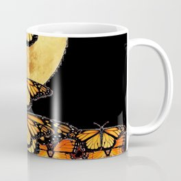 MONARCH BUTTERFLIES UNDER FULL MOON NIGHT SKY Coffee Mug