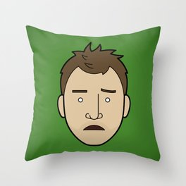 Faces of Breaking Bad: Jesse Pinkman (Early) Throw Pillow
