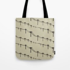 Metal Trees Tote Bag