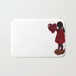 A child's heart Bath Mat