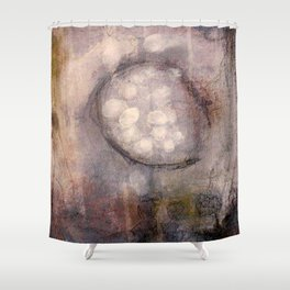 Lost Eye - Mixed Media Acrylic Abstract Modern Art, 2009 Shower Curtain