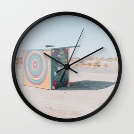 Not All Who Wander Are Lost / Slab City, California Wall Clock