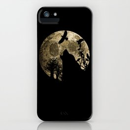 Lonewolf Lycan Dreaming 1 iPhone Case
