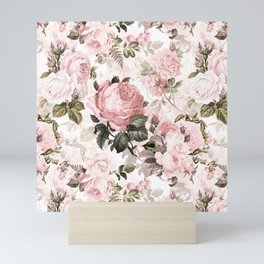 Vintage & Shabby Chic - Sepia Pink Roses  Mini Art Print