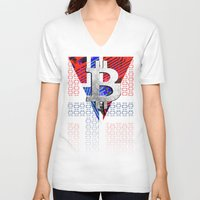 norway V-neck T-shirts featuring bitcoin Norway by seb mcnulty