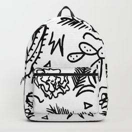 Doodle Cactus Tropical doodles of fun Backpack