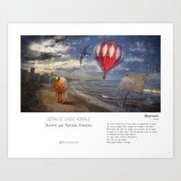 """Beyrouth"" en Mots & Image (French touch) by Matylda Konecka Art Print"