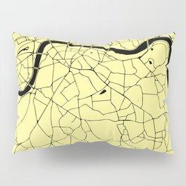 London Yellow on Black Street Map Pillow Sham