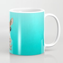 Cute Baby Kangaroo With Football Soccer Ball Coffee Mug