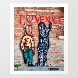 I luv Venice Art Print