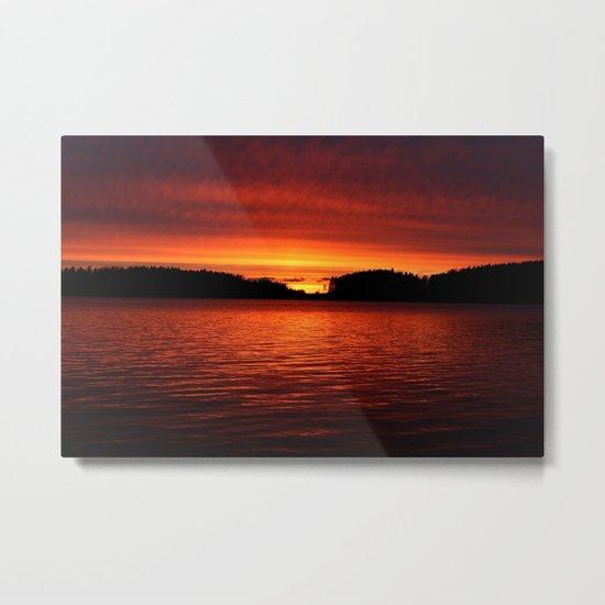 Sunset in April Metal Print