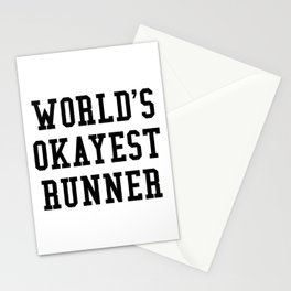 World's Okayest Runner Stationery Cards