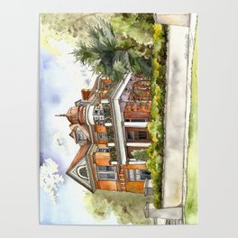 Stately Manor House Poster