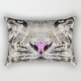white tiger Rectangular Pillow