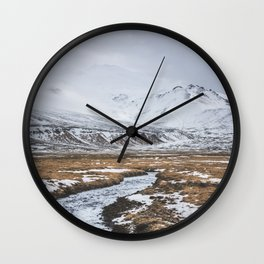 Heading to the Mountains - Landscape and Nature Photography Wall Clock