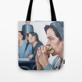 Jughead Jones Eats a Burger - Riverdale Tote Bag