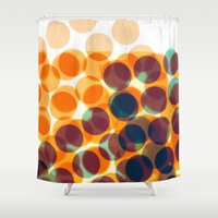dots Shower Curtains featuring Dots by Yordanka Poleganova