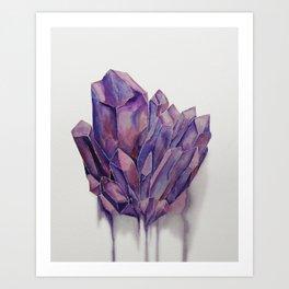 Purple Crystal Art Print