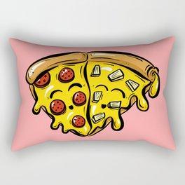 Pepperoni LOVES Pineapple Pizza Slice Rectangular Pillow