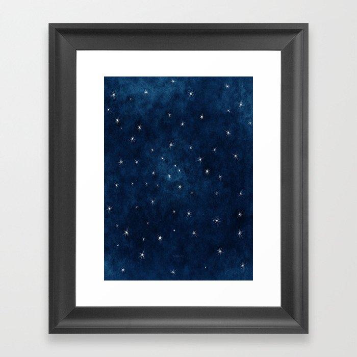 Whispers in the Galaxy Gerahmter Kunstdruck