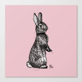 Pink Woodland Creatures - Bunny Canvas Print