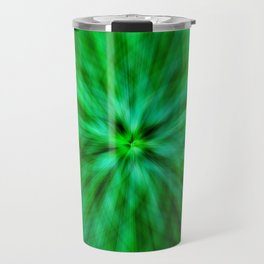 Green Star Flower Glow Travel Mug