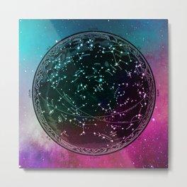 Nebula Sky Map Metal Print