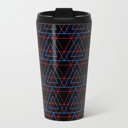 Infrared Neon Triangles Pattern Travel Mug