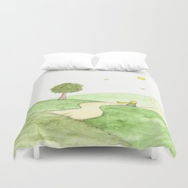 The little Prince and the Fox Duvet Cover