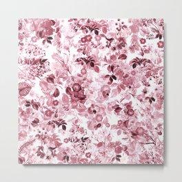 fleuri en rose Metal Print