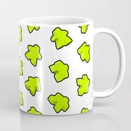 Meeple Mania Lime Pattern Coffee Mug