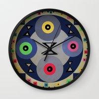 ferris wheel Wall Clocks featuring Ferris wheel by simay