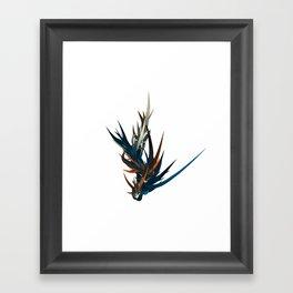 Orange Blue Cream Framed Art Print