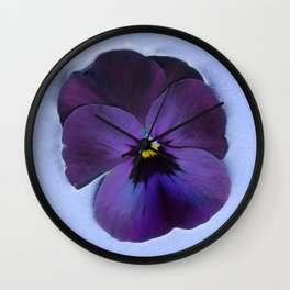 Ultra violet viola tricolor Wall Clock