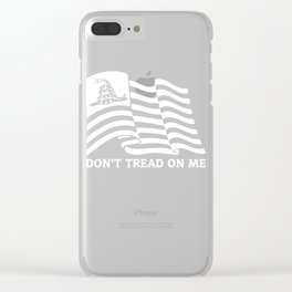 Don't Tread On Me Gadsden Flag Clear iPhone Case
