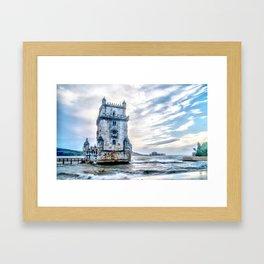 Belém Tower, Lisbon (Portugal) Framed Art Print