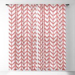 Shibori Chevrons - Peppermint Sheer Curtain