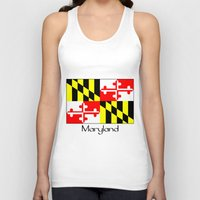 maryland Tank Tops featuring Maryland by rita rose