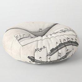 Football Patent - American Football Art - Antique Floor Pillow