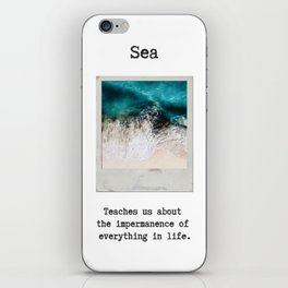 Small Emotional Dictionary: Sea iPhone Skin